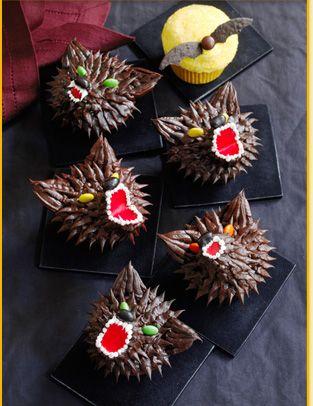 Easy Owl & Werewolf Cupcakes- too cute!