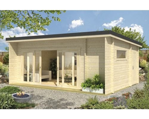 Gartenhaus Java mit Fußboden 608x390 cm natur