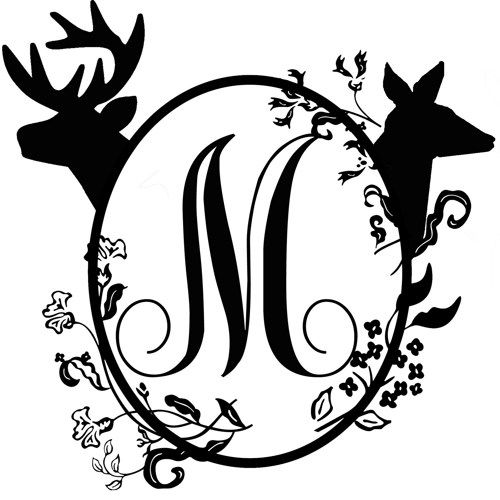 buck and doe outline | Buck And Doe Drawing Buck and doe mailbox monogram