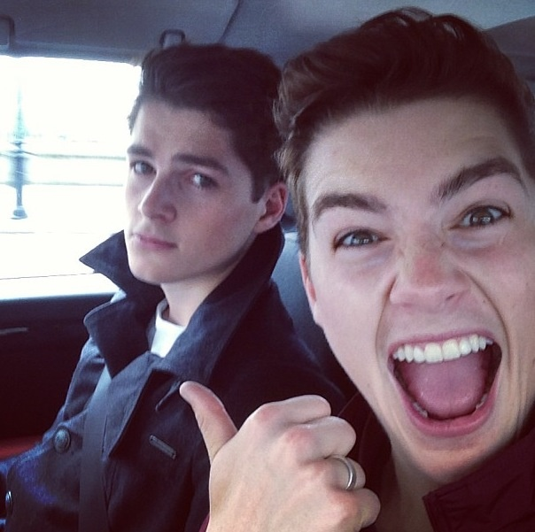Finn and Jack Harries. This perfectly shows they're ...