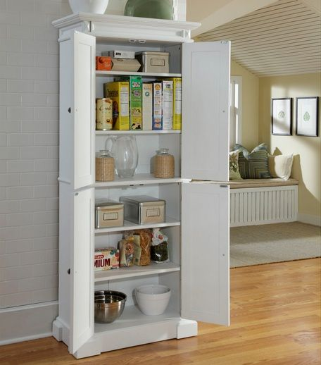 Unique White polished freestanding pantry cabinet Home Interiors Freistehende K chenschr nkeK chenw ndeK che