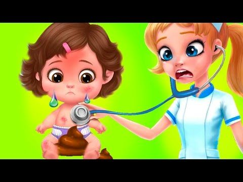 Крошки малыши сумасшедший день у доктора Crazy nursery baby care мультик...