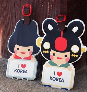 cute korean luggage tags