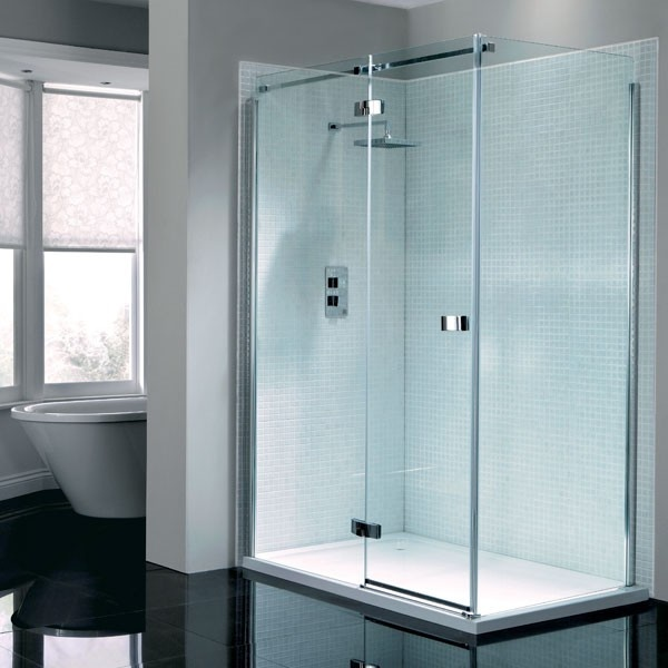Prestige2 frameless hinged door shower enclosure 1200 x for 1400 shower door