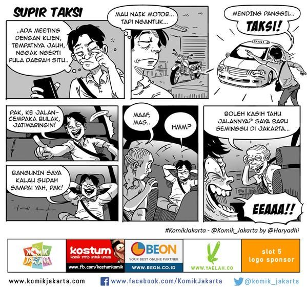 Supir Taksi by @haryadhi #KomikJakarta @mice_cartoon http://t.co/tzipN4BaZ0