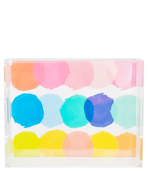 Color Palette Lucite Tray