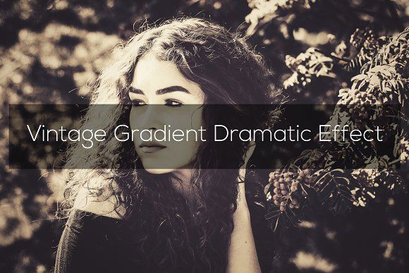 Vintage Gradient Dramatic Effect Photoshop Resources Dramatic Effect Photoshop