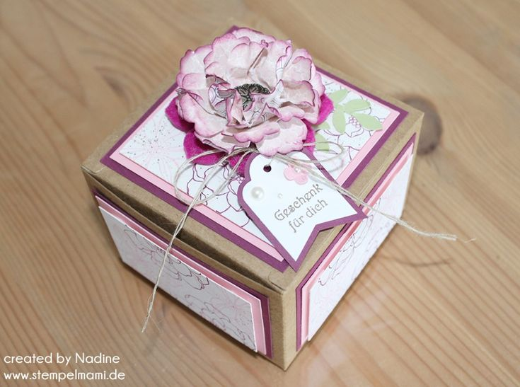 Muttertagskarte Stampin Up Give Away Mother Day Card Box 029