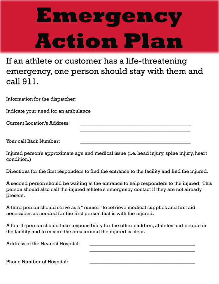 Emergency Action Plan Develop A Sitespecific Emergency Action Plan