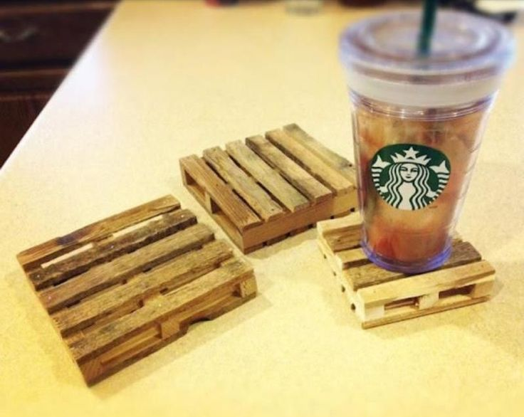 These Pallet Coasters Make For Some Cool Drink Holders