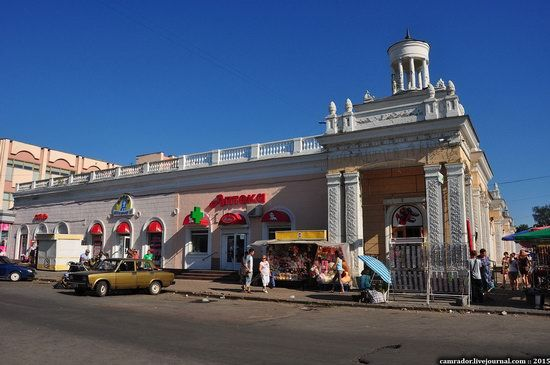 Zhitnii Market - a fine example of Stalinist architecture in Zhitomir city, Ukraine