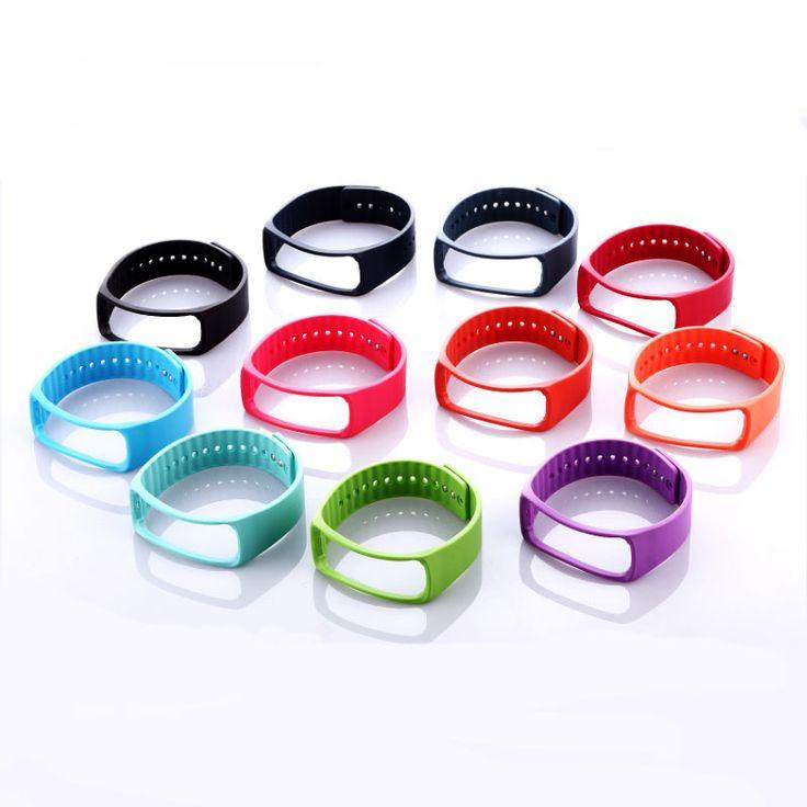 1 unids reemplazo pulsera banda de goma para Samsung Gear Fit R350 banda inteligente pulsera correa reloj con Metal abrocha(China (Mainland))