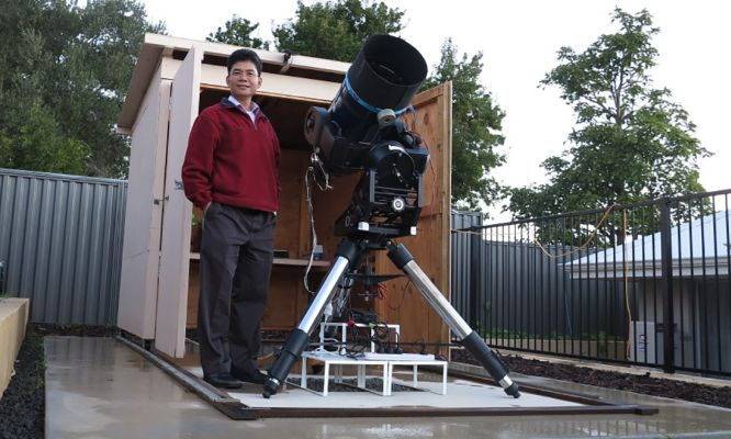 """I was always interested in #astronomy, ever since I saw the #moon landing as a #kid,"" TG says.    He couldn't afford a #telescope then, but as a grown up, TG has set up a highly capable backyard observatory using off-the-shelf equipment and a healthy dose of DIY."