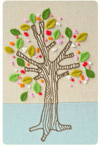 tree embroidery project. Maybe for this weekend...