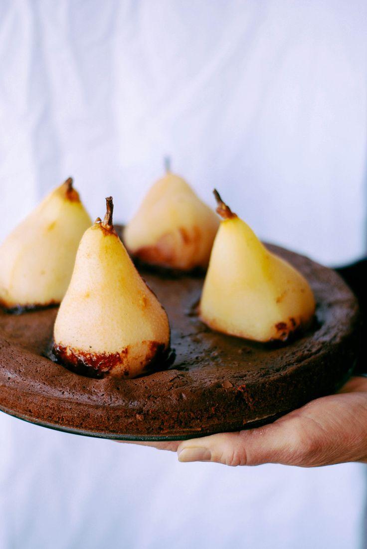 Fondant au chocolat & poires pochées aux épices – Meg&Cook