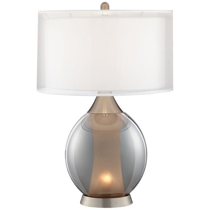 Rachel glass and metal night light table lamp style 16x67
