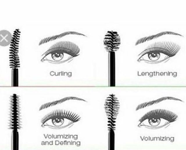how to use different mascara brushes