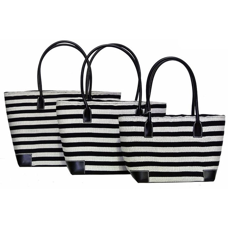 #Baskets | The French Shoppe Beautiful Zebra Striped Baskets are perfect for all occasions! They are extremely light weight, very durable and ideal for shopping!