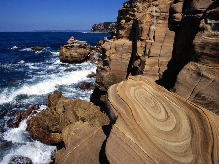 Coastal Sandstone Maitland Bay Bouddi National Park South Wales ...
