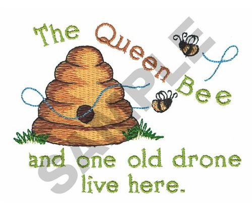 THE QUEEN BEE.... embroidery design