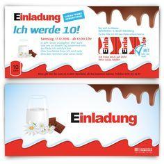 Kindergeburtstagseinladung - Schokolade für Kinder Motiv #geburtstag #einladung #geburtstagseinladung #kindergeburtstag #kinderschokolade #schokolade