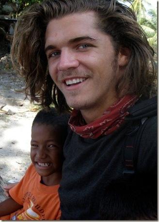 Malcolm Freberg and a cute little kid. It's love.