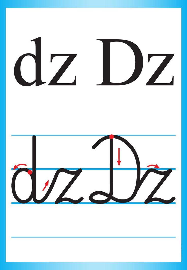 Alfabet polski, pisany dla dzieci do druku 10