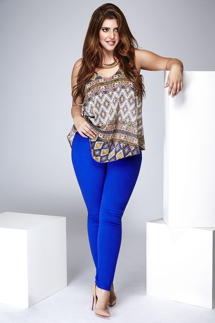 nice Denise Bidot ((Do I have the guts to wear bright blue pants?? Ahhhh.. Maybe? Hop... by http://www.polyvorebydana.us/curvy-girl-fashion/denise-bidot-do-i-have-the-guts-to-wear-bright-blue-pants-ahhhh-maybe-hop/
