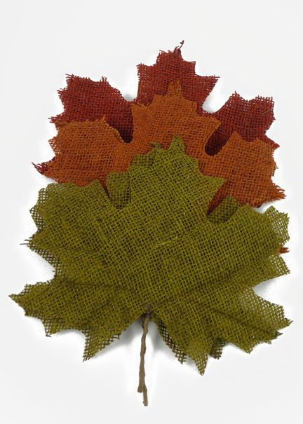 green copper burgundy fall burlap maple leaves you can find these at - Fall Decorations For Sale