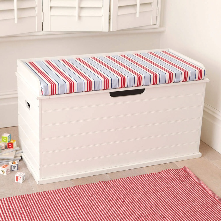 Toy Box Seat (Deckchair Blue Cushion) - Toy Boxes & Toy Storage ...