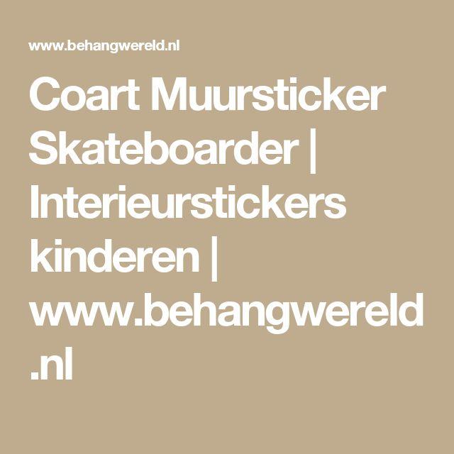 Coart Muursticker Skateboarder | Interieurstickers kinderen | www.behangwereld.nl