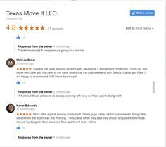 What makes a company GREAT?  Melissa B's Google Review! #marketingideas #reviews #blog #Moving #guide #lifelesson   https://www.texasmoveit.com/moving-company-review/