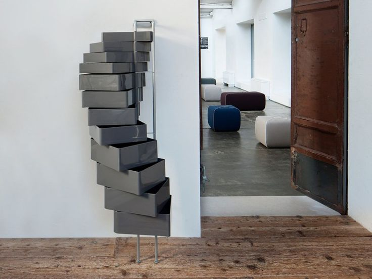 SPINNY Wallstanding chest of drawers by B-LINE design Joe Colombo Studio