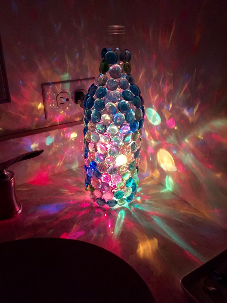 Wine Bottle Dollar Tree Glass Pieces And Lights Hubby