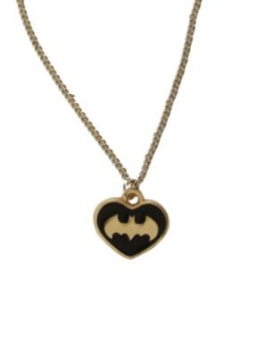 DC Comics Batman Black And Gold Tone Heart Necklace. SOLD OUT, at Hot Topic. This should be in my Xmas wish list!