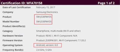 Samsung Galaxy J5 2017 akan Segera diluncurkan dalam Waktu Dekat