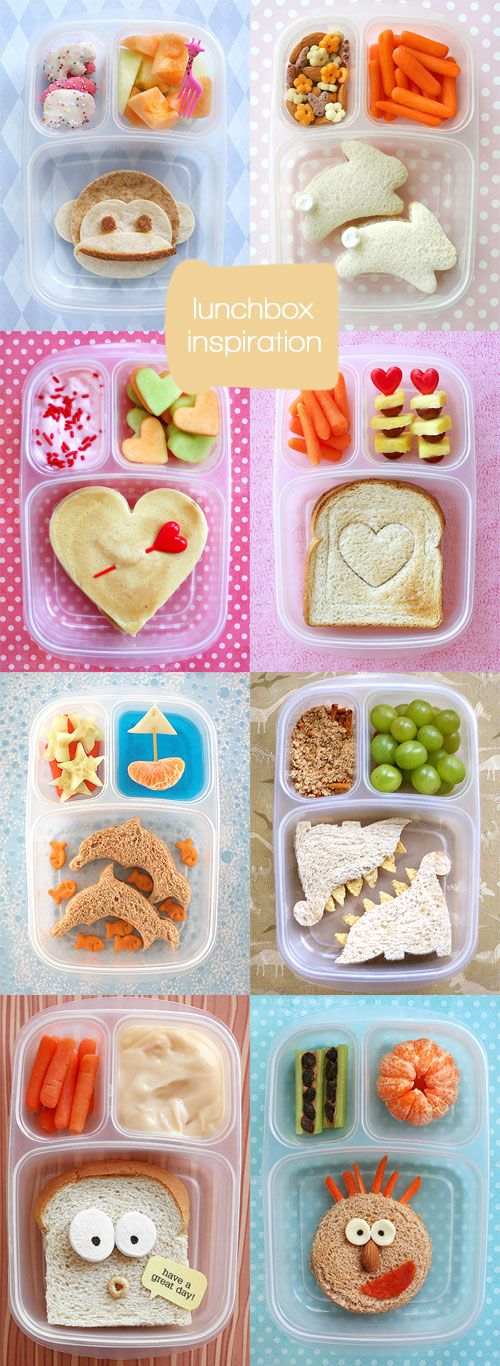lunchbox inspiration: Fun Lunch, School Lunch, Kid Lunch, Kids Lunch, Lunchbox Inspiration, Kids Food