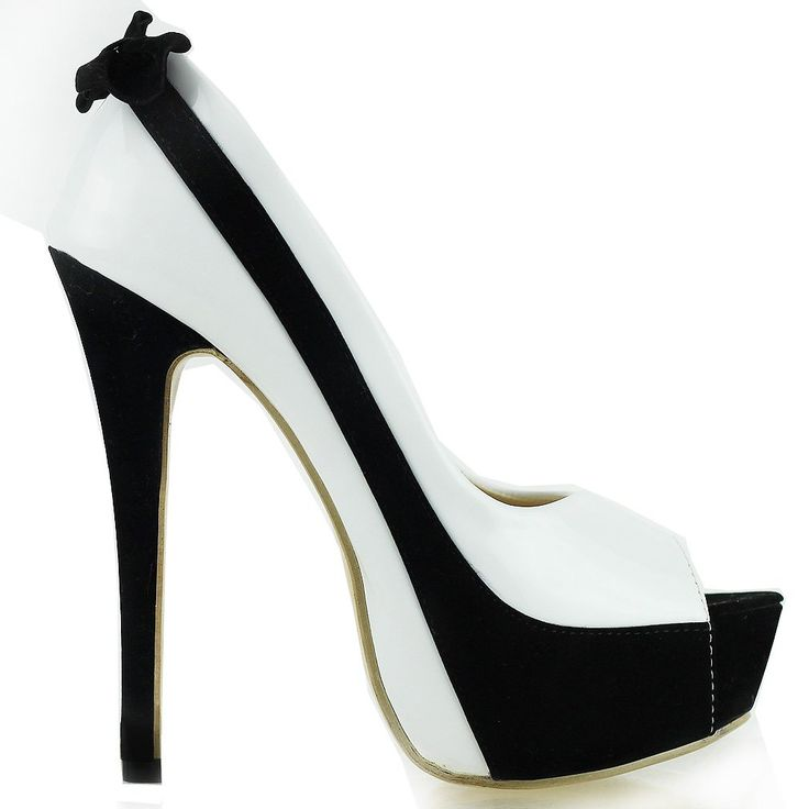 Amazon.com: Show Story Sexy Two Tone Peeptoe Bow Stiletto Platform High Heels Pumps, LF40501: Pumps Shoes: Clothing