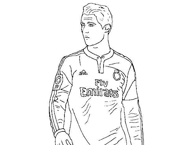 Dibujo Cristiano Ronaldo Para Colorear Sports Coloring Pages