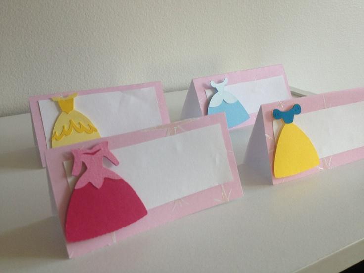Set Of 12 Disney Princess Table/ Food Place Cards,Arora, Snow White, Cinderella, Sleeping Beauty, Baby Shower, Princesses, Birthday Party.