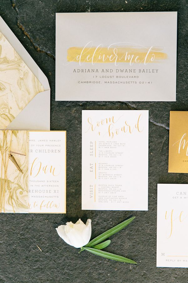 For the Bride who loves letterpress and isn't afraid to take fashion risks, we've rounded up a few of our favorite contemporary invitation suites.