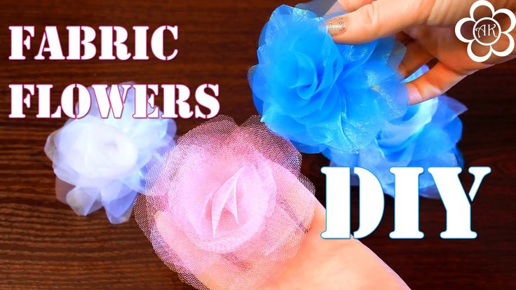 Цветок из сетки Мастер Класс/ DIY Fabric Flowers
