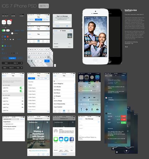 iOS 7 template pour iPhone5