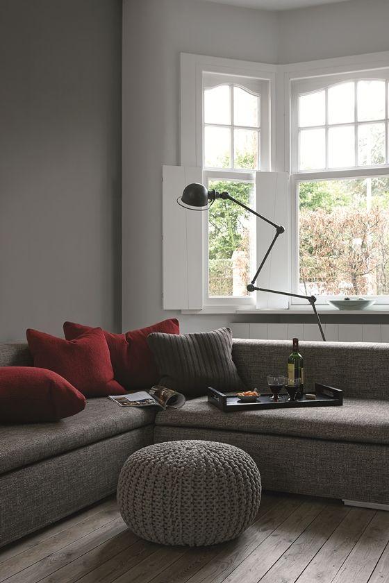 Warme kalkmatte kleuren voor op de muur woon ideeen pinterest we search and - Deco grijze muur ...