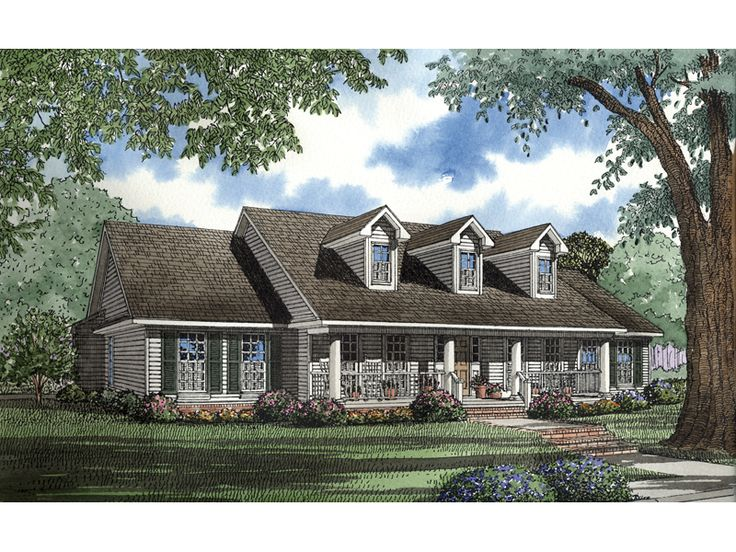 17 best ideas about plan front on pinterest country house plans country home plans and ranch - House plans dormers ...