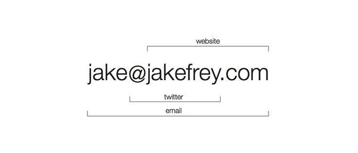 The minimalist business card – by Jake Frey