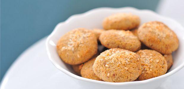 Kokos-Mandel-Kekse glutenfrei, eifrei, laktosefrei & fructosearm gesüsst bei www.pures-geniessen.com