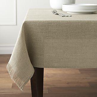 Beckett Natural Tablecloth #setthetable