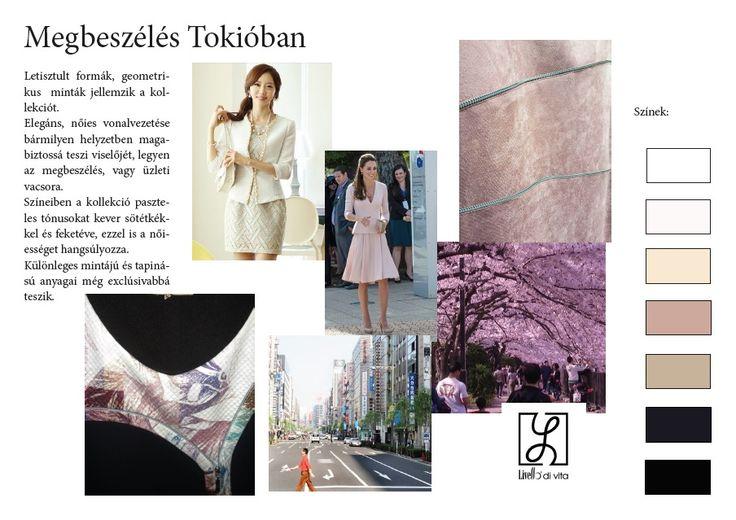 Kollekció színei és hangulata, Megbeszélés Tókióban