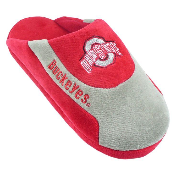 Comfy Feet NCAA Low Pro Stripe Slippers - Ohio State Buckeyes - OHI07LG